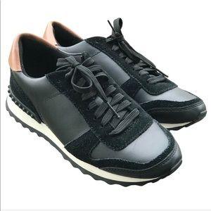 Coach Moonlight Sneakers in Black & Tan leather